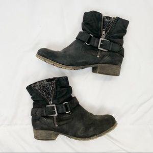 Pop Geller Black Ankle Boots Booties 7.5